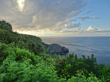 Coastal scenery at Guadeloupe Stock Photography