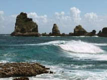Coastal scenery at Guadeloupe Royalty Free Stock Images