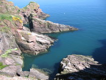 Coastal scenery near Arbroath. Scotland Stock Photos