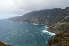 Coastal scenery Slieve League in Ireland. Royalty Free Stock Photography