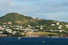 Coastal scenery from St Kitts Royalty Free Stock Photo
