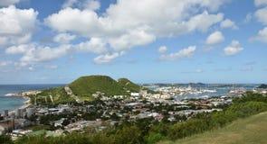 Coastal scenery from St Maarten Royalty Free Stock Photos