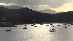 Coastal scenery from St Thomas stock video