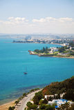 Coastal scenery of the Tunis city. Photo of the coast area of Tunis city, capital of Tunisia Stock Photo