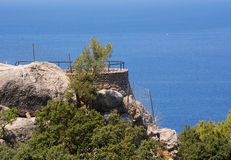 Coastal scenery in western Mallorca. Balearic islands, Spain on a sunny day in July Stock Images