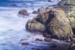 Coastal scenes at usa pacific coast Stock Photos