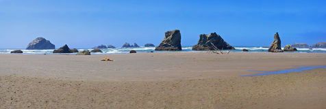 Coastal Sea Stacks - Panorama Stock Photo