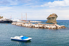 Coastal seascape of Lacco Ameno, Ischia island Stock Image
