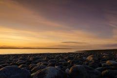 Coastal Serenity. Rebecca Spit, Quadra Island, Vancouver Island, British Columbia, Canada on a calm summer morning Stock Images