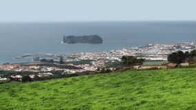Coastal settlement at the Azores Royalty Free Stock Photos