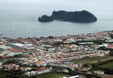 Coastal settlement at the Azores Royalty Free Stock Photo