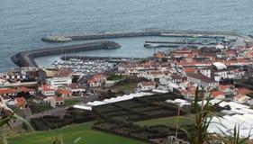 Coastal settlement at the Azores Stock Photo