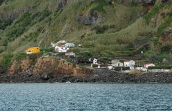 Coastal settlement Royalty Free Stock Photo