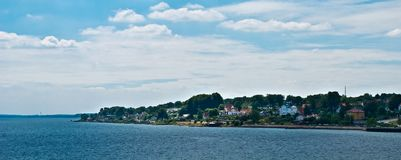 Coastal Settlement, Scandinavia Royalty Free Stock Photo