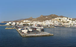 City of Naxos in Greece at evening time Royalty Free Stock Image