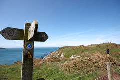 A coastal sign post Royalty Free Stock Photo