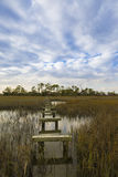 Coastal South Carolina with damaged boardwalk Stock Photo