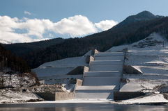 Coastal spillway of Sayano-Shushenskaya hydroelect Royalty Free Stock Photos