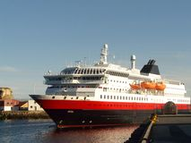 The coastal steamer in Lofoten  Royalty Free Stock Photos