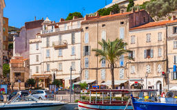 Coastal streetview of Bonifacio, Corsica Royalty Free Stock Photos