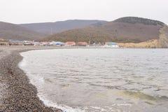 The coastal strip in bay of the village of Sukko spring, a suburb of Anapa Stock Photos
