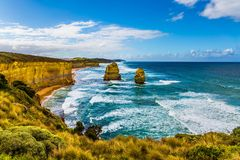 Coastal strip of Twelve Apostles stock photography