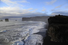 Coastal strip at Vik, Iceland stock photo