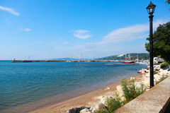 Coastal summer landscape of Balchik town Royalty Free Stock Image