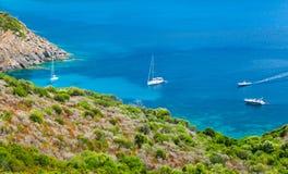 Coastal summer landscape of South Corsica Royalty Free Stock Photo