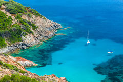 Coastal summer landscape of South Corsica Stock Photo