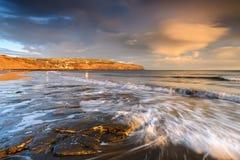 Beautiful Coastal Sunrise. Coastal Sunrise at Robin Hoods Bay, North Yorkshire, England royalty free stock image