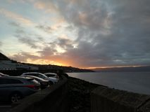Coastal Sunset. Sunset above a Scottish river stock images