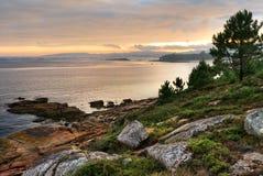 Coastal Sunset on Atlantic ocean Royalty Free Stock Photo