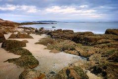 Coastal Sunset on Atlantic ocean Stock Photography