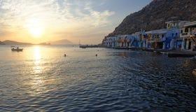 Coastal sunset stock images