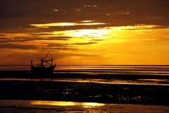 Coastal of Thailand at sunrise. Royalty Free Stock Photography