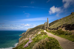 Coastal Tin Mine, Cornwall, UK Royalty Free Stock Images