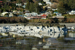 Coastal Town. A small coastal town on a hillside in Oregon royalty free stock photos