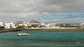 Coastal Town of Arrecife, Lanzarote, Canary Islands, Spain Stock Photography