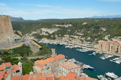 Coastal town Bonifacio Royalty Free Stock Photo