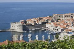 Coastal town of Dubrovnik Dalmatia Royalty Free Stock Photography