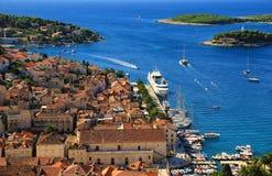Coastal Town Hvar Stock Image