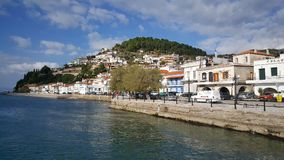 Coastal town Limni in Greece Stock Images