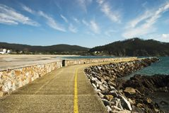 Coastal town Royalty Free Stock Image