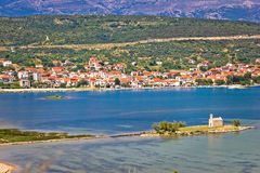 Coastal town of Posedarje, Croatia Stock Photo