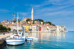 Coastal town of Rovinj, Istria, Croatia. Royalty Free Stock Images