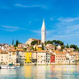 Coastal town of Rovinj, Istria, Croatia. Royalty Free Stock Photography