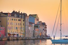 Coastal town of Rovinj, Istria, Croatia. Stock Photo
