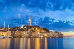 Coastal town of Rovinj, Istria, Croatia in sunset. Royalty Free Stock Photo