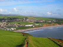 The coastal town of St Bees, Cumbria, UK Stock Photography